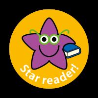 Star Reader Stickers (28mm)