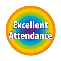 Rainbow Attendance Sticker (38mm)