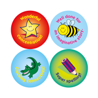 Literacy Compilation Stickers (24mm)