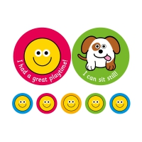 38/10mm Personal & Social Messages - 10 A4 Sheets, 590 Stickers.