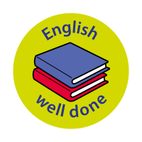 English - Well Done Curriculum Stickers (24mm)
