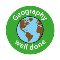 Geography - Well Done Curriculum Stickers