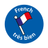 French Tres Bien Stickers (24mm)