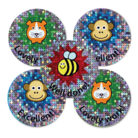 28mm Sparkly Animal Praise Stickers - Pack Of 54