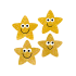 Gold Sparkly Star Shaped Stickers
