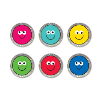 12mm Sparkly Mini Smileys.2 Sheets, 208 Stickers Per Pack.