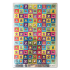 Sparkly Mini Square Spanish Well Done Stickers - 12mm