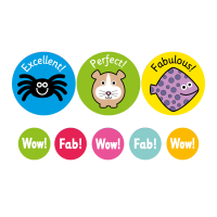 24/10mm A4 General Exclamations! 10 Sheet, 1240 Stickers
