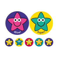 38/10mm A4 Exclamation Stars! 10 Sheet Pack, 590 Stickers