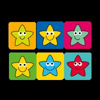 12mm Square Mini Star Stickers - 12mm