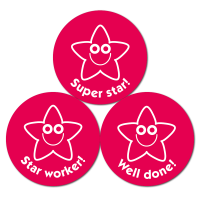 Budget Stickers - Red Star (38mm)