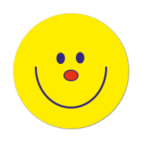Smiley Face Sticker - No Caption (38mm)