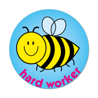 Bee - Hard Worker Sticker (38mm)