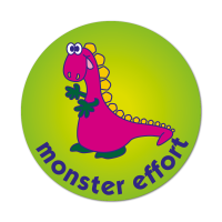 Dino Monster Effort Stickers (38mm)