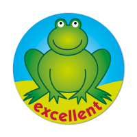 Frog - Excellent Stickers (38mm)