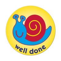 Snail Well Done Stickers (38mm)