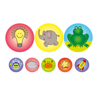 24/10mm Picture Only Stickers