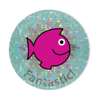 28mm Sparkly Fantastic Fish Stickers - Pack Of 54
