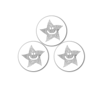 SMILEY SPARKLY METALLIC STARS 10MM Pack 720