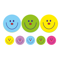 A5 Smiley Compilation 24mm And 10mm Stickers
