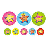 A5 Stars Compilation 24mm And 10mm Stickers