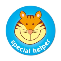 Special Helper Tiger Sticker (38mm)