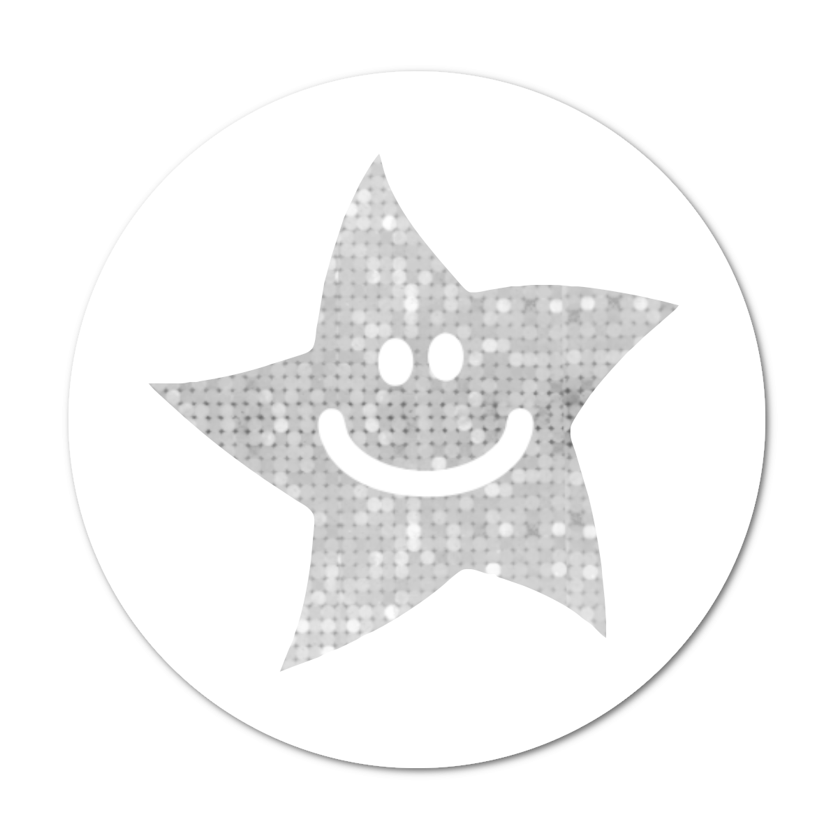 24mm Silver Sparkly Star Stickers