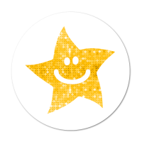 24mm Gold Sparkly Star Stickers