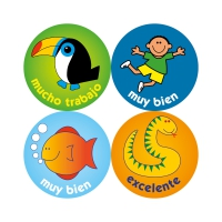 24mm Spanish Language Reward Stickers