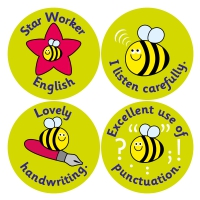 English Curriculum Reward Stickers (38mm)