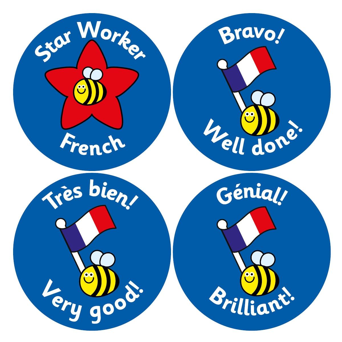 French Reward Stickers (38mm)