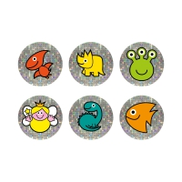 Mini Sheet- 12mm Mixed Images Sparkly Reward Stickers Pack