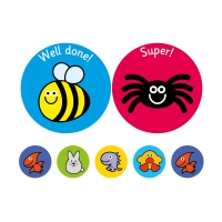 38/10mm A4 Exclamation Stickers! 10 Sheet Pack, 590 Stickers