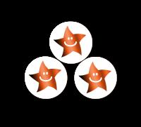 10mm Bronze Metallic Smiley Mini Star Stickers