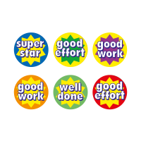 A5 10mm Star Words Stickers - Pack Of 750
