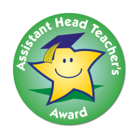 Assistant Head Teacher`s Award Stickers (38mm) - Pack Of 75