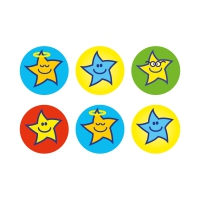 Team Colour Star Stickers (10mm)