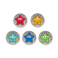 Mini Sheet- 12mm Sparkly Star Stickers Pack