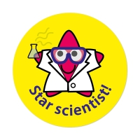 Star Scientist Stickers (28mm)