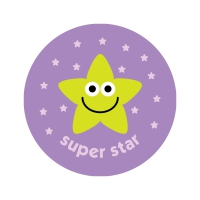 Blueberry 38mm `Super Star` Scratch And Sniff Stickers
