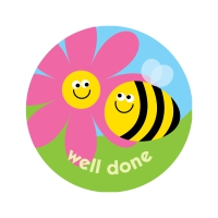 Cherry Blossom 38mm `Well Done` Bees Scratch And Sniff Stickers