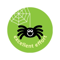 Apple 38mm `Excellent Effort` Spider Scratch And Sniff Stickers