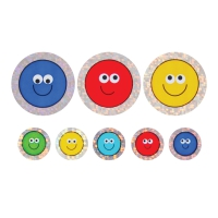 28/12mm Sparkly Stickers, Smiley Faces