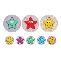 28/12mm Sparkly Stickers, Smiley Stars