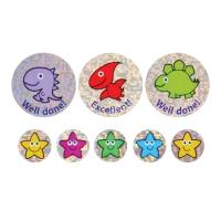 28/12mm Sparkly Stickers, Sparkly Dinos