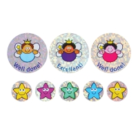 28/12mm Sparkly Stickers, Sparkly Fairies