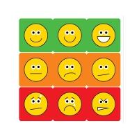 12mm Square Mini Emoticon Stickers