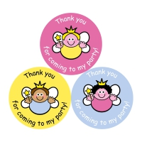 Thank You For Coming To My Party Stickers - Fairies - 38mm