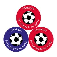 Thank You For Coming To My Party Stickers - Football - 38mm