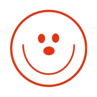 Sticker Factory Stamper: Smiley Face - Red